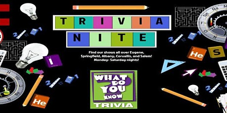 What Do You Know? Trivia Fridays tickets