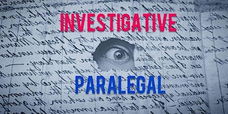 "Pursuing Investigative Paralegal Career  > Exciting Than ""Erin Brockovich"" biglietti"