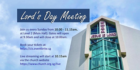 7 MAR 2021 -  Lord's Day Meeting tickets