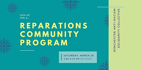 Reparations Community Program: Conversation for WHS Students/Community tickets