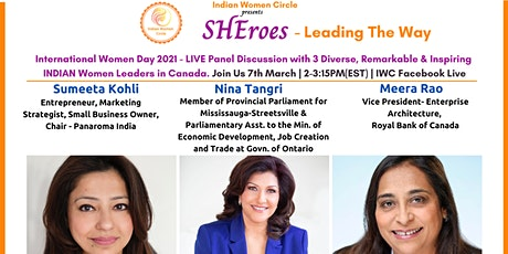 Indian Women Circle presents SHEroes - Leading The Way tickets
