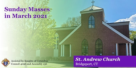 Sunday Masses for March 2021 tickets