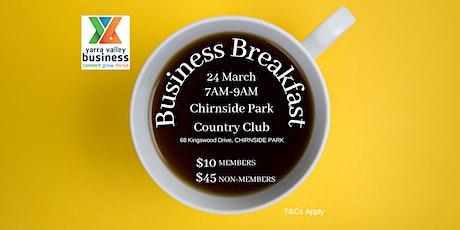 Yarra Valley Business Breakfast tickets