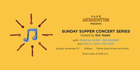 Sunday Supper Concert Series with Iris Dement tickets