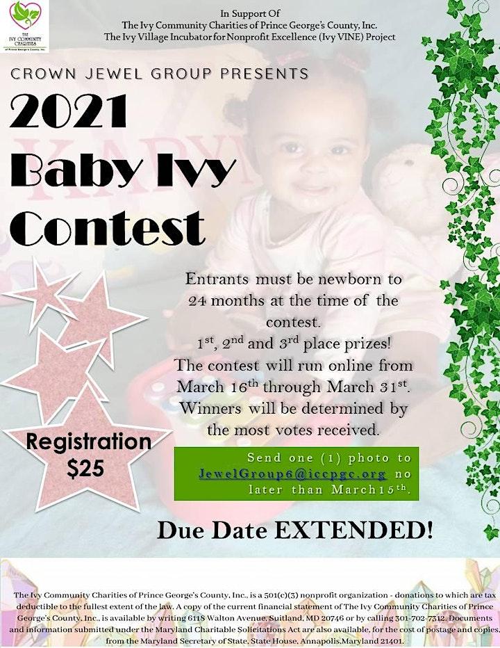 2021  Baby Ivy Contest image