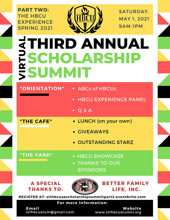 """3rd Annual Scholarship Summit - Part 2 """"The HBCU Experience"""" image"""