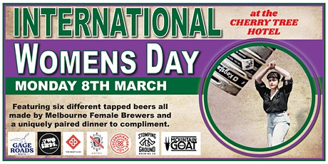 International Women's Day Beer Paired Dinner at Cherry Tree Hotel tickets