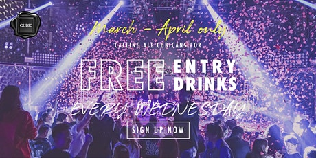 """Every Wed""  Free Entry + Drinks before 12:30 AM (Mar - Apr only!) tickets"