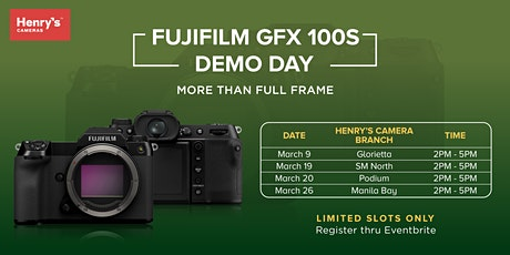Touch and Try Featuring the new Fujifilm GFX 100S - Demo Day! tickets