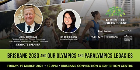 Brisbane 2033 and our Olympics and Paralympics Legacies with John Coates AC tickets