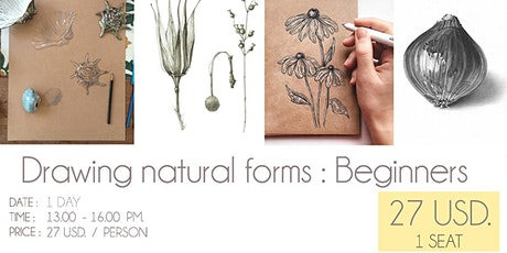 Drawing natural forms : Beginners tickets