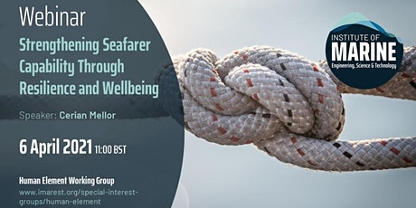 WEBINAR: Strengthening Seafarer Capability through Resilience and Wellbeing tickets