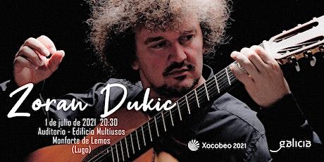 Concierto de Zoran Dukic entradas