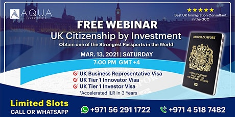 UK Residency by Investment Webinar tickets