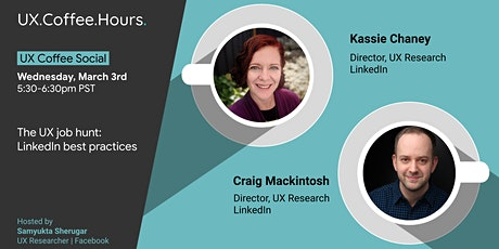 UX Coffee Social:  LinkedIn best practices & other job hunt tips tickets