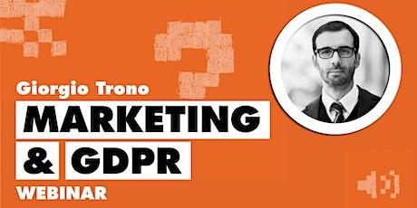 Fare marketing online rispettando il GDPR biglietti