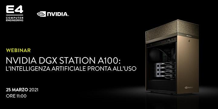 Webinar: NVIDIA DGX Station A100: l'Intelligenza Artificiale pronta all'uso image
