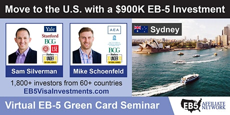 U.S. Green Card Virtual Seminar – Sydney, Australia tickets