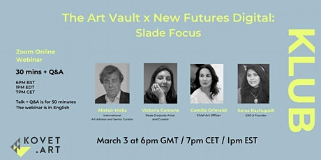 New Futures Digital:  Panel with Alistair Hicks and Victoria Cantons tickets