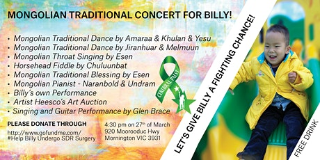 Mongolian Traditional Concert for Billy tickets
