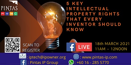 5 Keys Intellectual Property Right That Every Inventor Should Know tickets