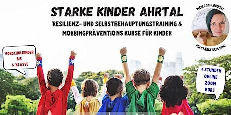 Mobbingprävention - Starke Kinder Online Kurs - 4 Stunden - SA und SO Tickets
