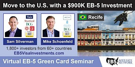 U.S. Green Card Virtual Seminar – Recife, Brazil ingressos