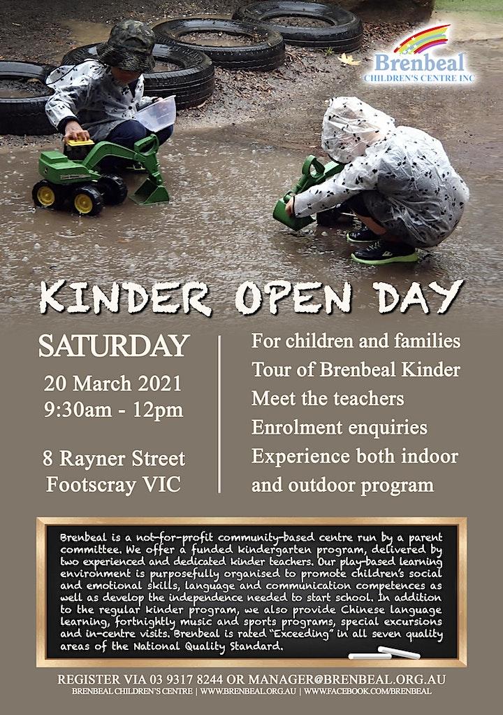 Brenbeal Children's Centre - Kinder Open Day image