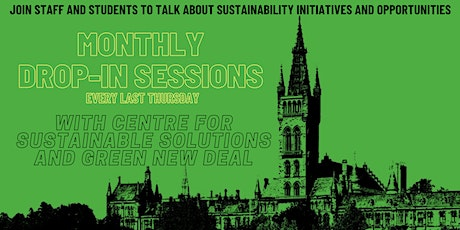 Monthly drop-in sessions with Centre for Sustainable Solutions tickets