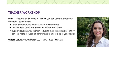 Teacher Workshop: Using the Emotional Freedom Technique for Stress Relief tickets