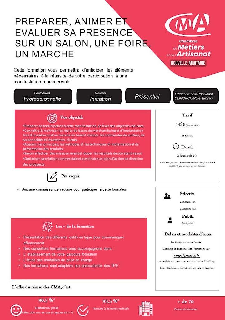 Image pour Stage  SALON,  FOIRE, MARCHÉ (2 JOURS)