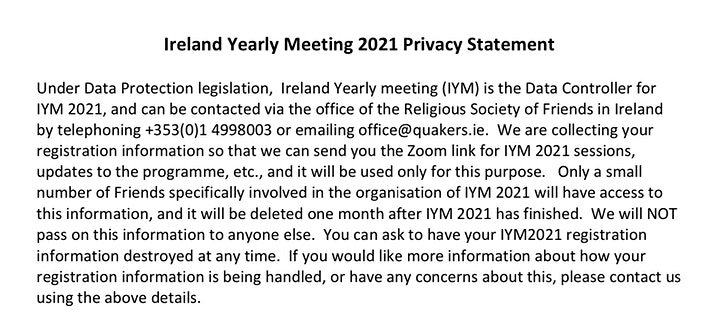 Ireland Yearly Meeting 2021 image