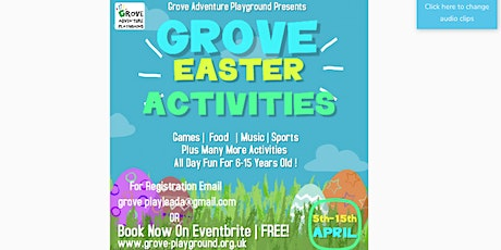 Grove Playday 20/03/2021 tickets