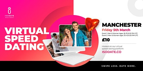 Isodate's Manchester Virtual Speed Dating - Swipe Less, Date More tickets