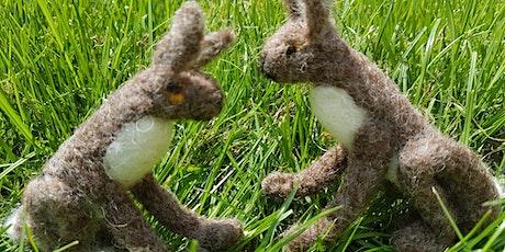 Needle Felt Workshop, learn how to felt this cute hare. tickets
