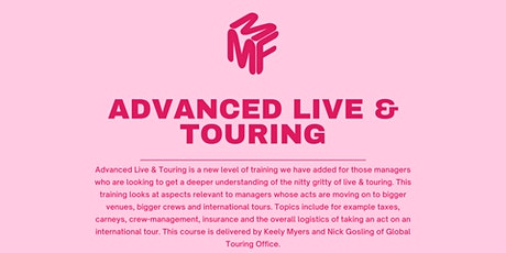 Advanced Live & Touring February 2021 - Extra Dates tickets