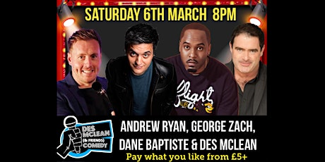 Des McLean & Friends on Zoom tickets