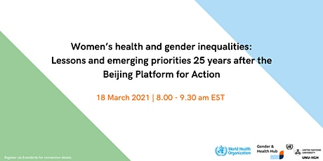 CSW 65 Side Event Registration: Women's health and gender inequalities tickets