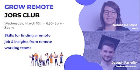 Grow Remote Jobs Club - March Meetup tickets