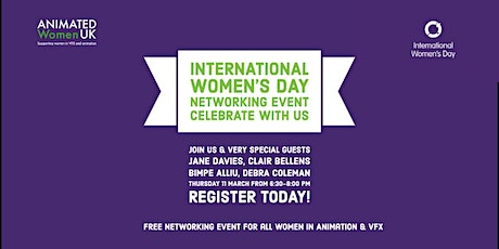 Animated Women UK:  International Women's Day Networking Event tickets