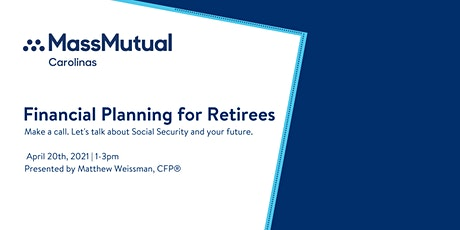 Financial Planning for Retirees (Part 1) tickets