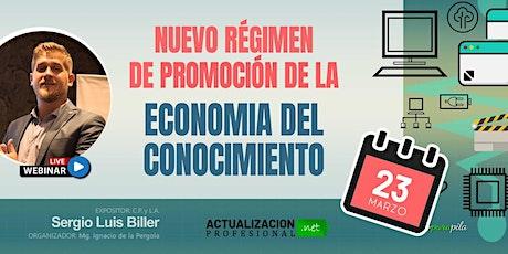 NUEVO RÉGIMEN DE PROMOCIÓN DE LA ECONOMIA DEL CONOCIMIENTO tickets