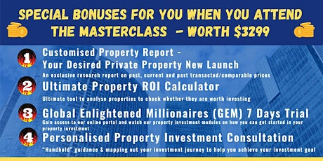 **[FREE Physical Property Investing MASTERCLASS by Dr Patrick Liew!]* tickets