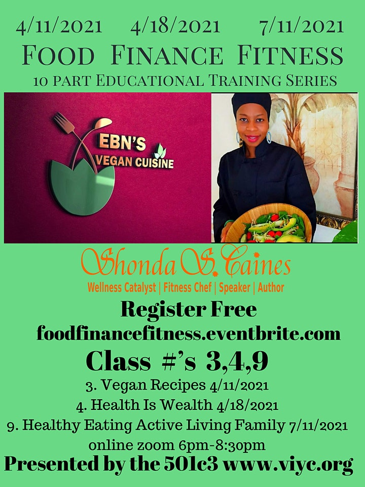 Food, Finance, and Fitness Educational Series (Urban Farmer Edition) image