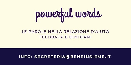 powerful words - laboratori on line biglietti