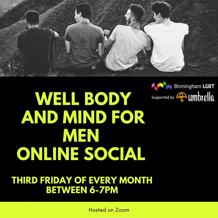 Well Body and Mind for Men, Online social for GBTQ+ men image