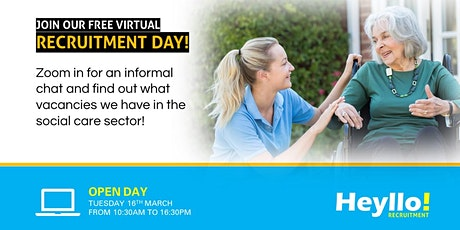Recruitment Event: Virtual Open Day - Health & Social Care | 16/3/2021 tickets
