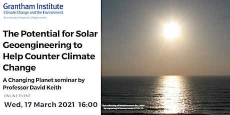 The Potential for Solar Geoengineering to Help Counter Climate Change tickets