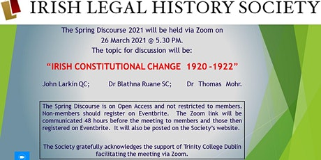 IRISH CONSTITUTIONAL CHANGE  1920 -1922 tickets