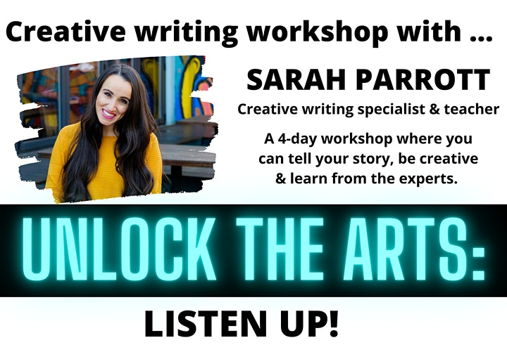 UNLOCK THE ARTS: Creative writing workshop with SARAH PARROTT image